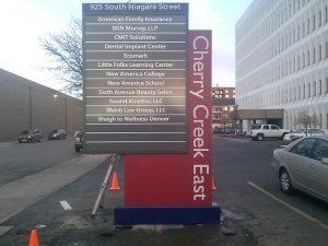 custom wayfinding signage in Denver